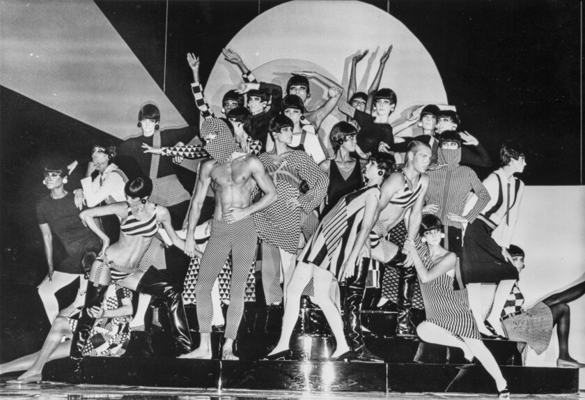 Gernreich fashion at LA's Wiltern Theater, 1985. A look at designer Rudi Gernreich (1922-1985) retr