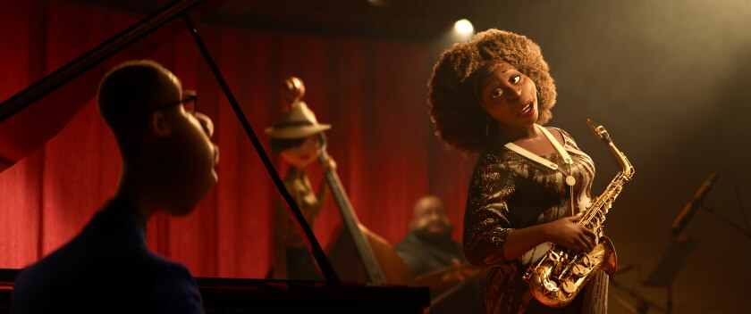 """A middle-school music teacher dreams of being a jazz performer in the Pixar animated film """"Soul."""""""