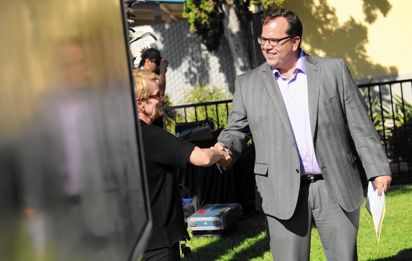 United Teachers Los Angeles President Alex Caputo-Pearl, shown in 2014, said it is no secret that the union wants to help organize charter school teachers.