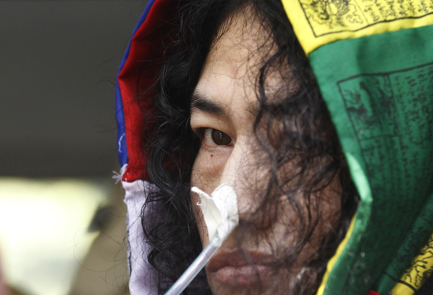 Manipuri civil rights activist Irom Sharmila leaves after an appearance at the Patiala House Court in New Delhi in October 2015.
