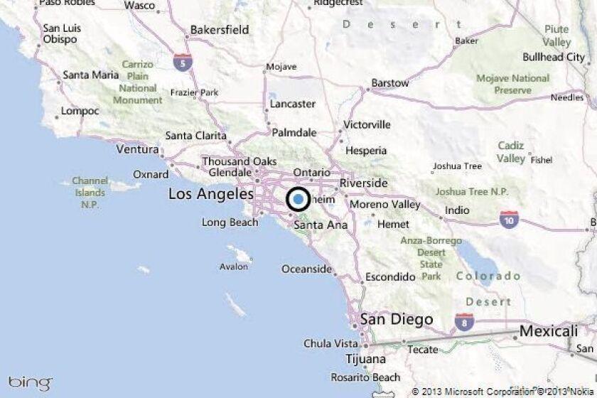 Earthquake: 2.5 quake strikes near Yorba Linda - Los Angeles Times on claremont map, madison heights map, kalamazoo map, downey map, gresham map, south los angeles map, whittier blvd map, san lorenzo map, linda cal map, los alamitos map, woodland map, elberton map, sherman oaks map, covington map, placentia map, san dimas map, santa ysabel map, ione map, linda ca map, oak view map,