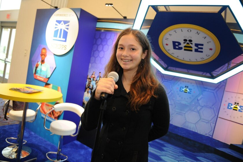 Ella Peters is San Diego's representative at the 2016 Scripps National Spelling Bee in Maryland.
