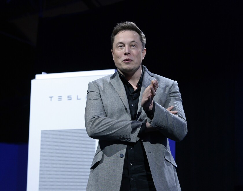 Chief Executive Elon Musk, shown on April 30, announced new options for Tesla's Model S electric sports sedan.
