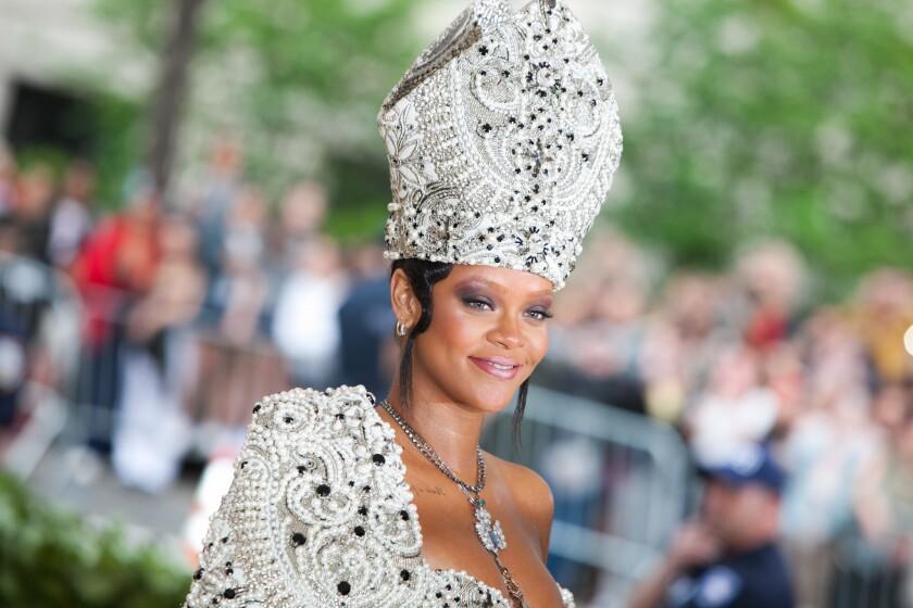 Rihanna at the Met Gala in 2018