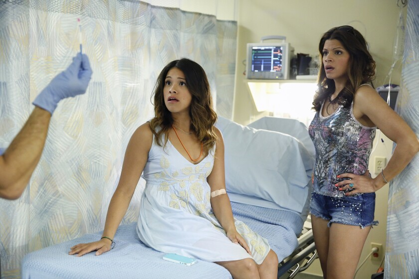 """Jane the Virgin,"" pictured, opened Monday on the CW with a young woman so determined to avoid an unplanned pregnancy that she has remained a virgin into her 20s."