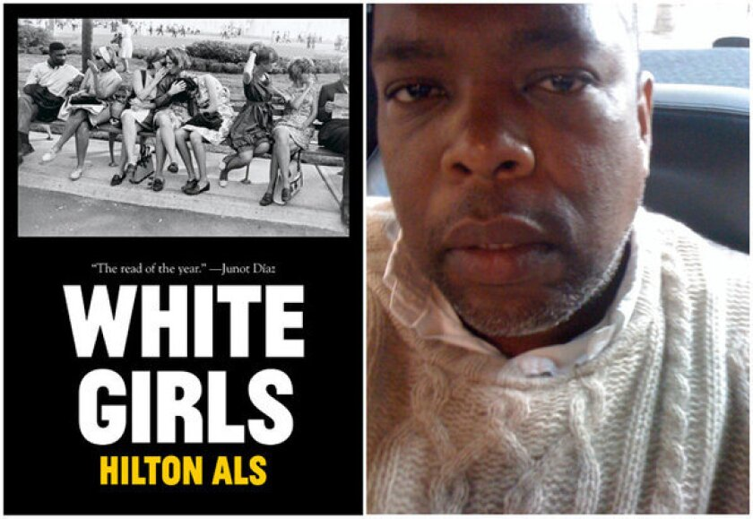 "The cover of ""White Girls"" and author Hilton Als."