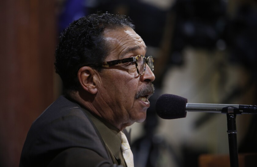 "Los Angeles City Council President Herb Wesson, pictured last year, said the City Council should be ""equal partners"" as an Olympic bid is developed."