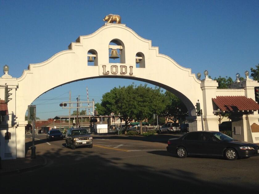 Main Street in Lodi, Calif.