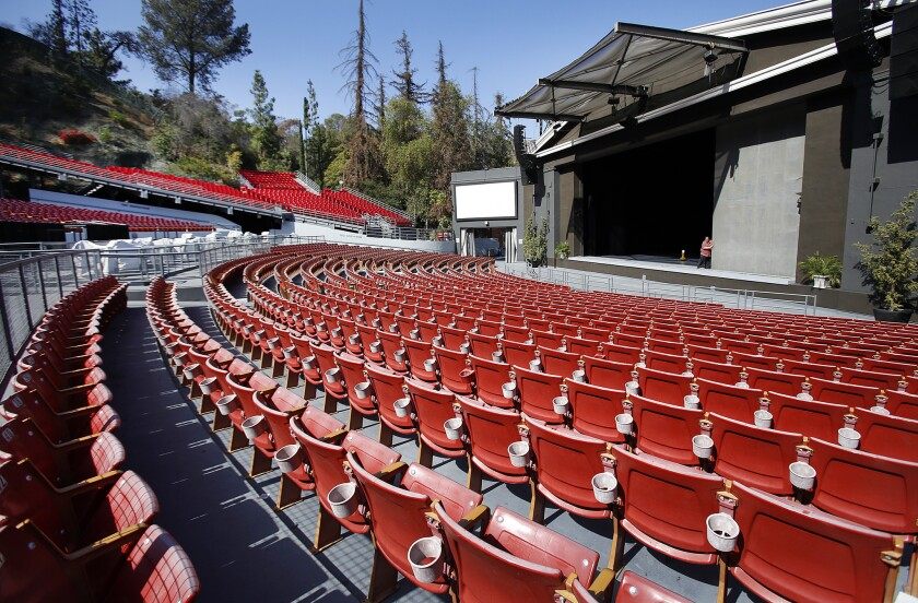 The Greek Theatre in Griffith Park.