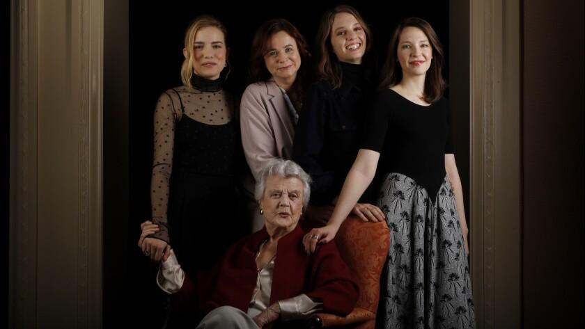 PASADENA, CA January 16, 2018: Portrait of Willa Fitzgerald, (left-right) Emily Watson, Maya Hawke