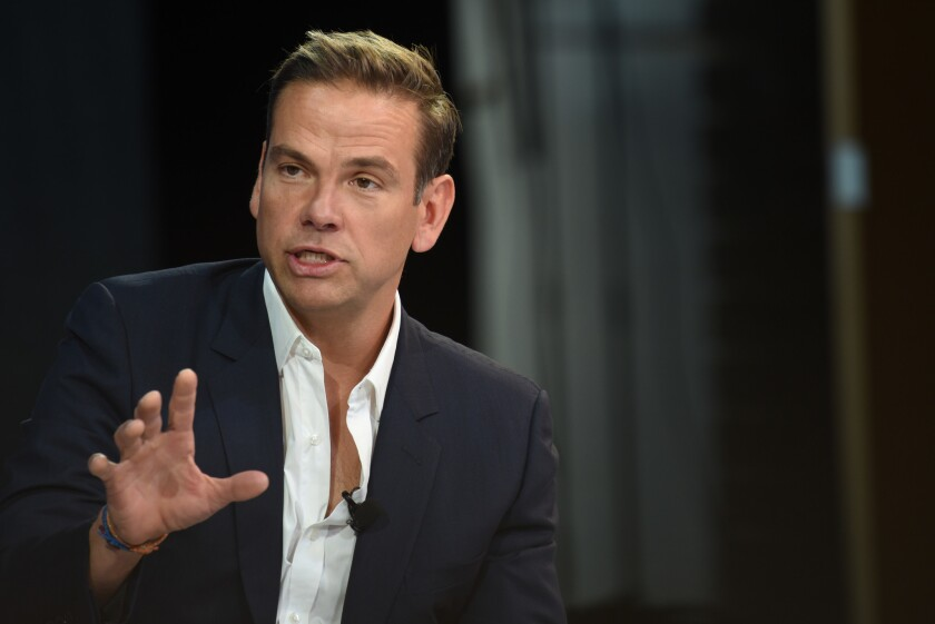 Lachlan Murdoch, executive chairman of Fox Corp., speaks at the New York Times DealBook conference on Nov. 1, 2018, in New York City.