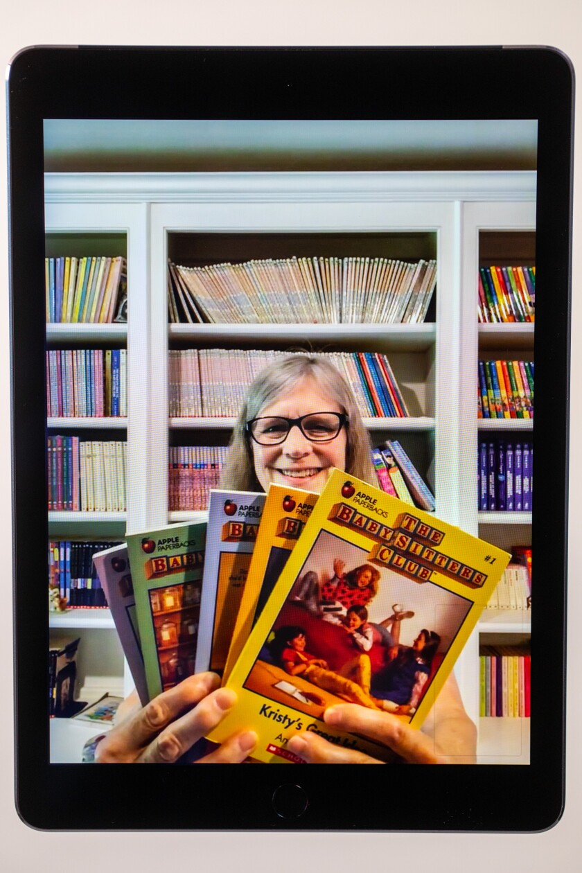 """Ann M. Martin, author of the famed book series """"The Baby-Sitters Club,"""" is photographed at her Woodstock, N.Y., home."""