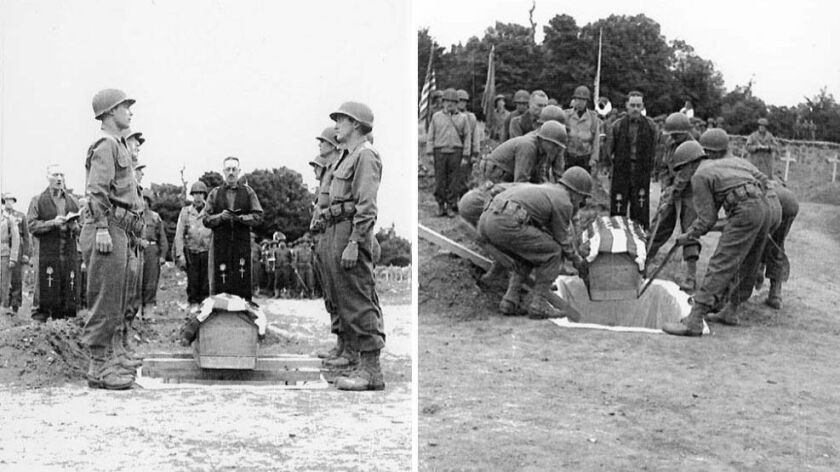 General Theodore Roosevelt, Jr is buried in Normandy where he died shortly after the D-Day invasion.