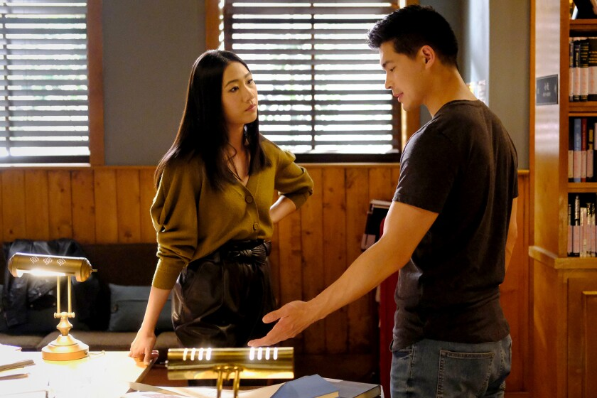 """Olivia Liang and Eddie Liu in """"Kung Fu"""" on the CW."""