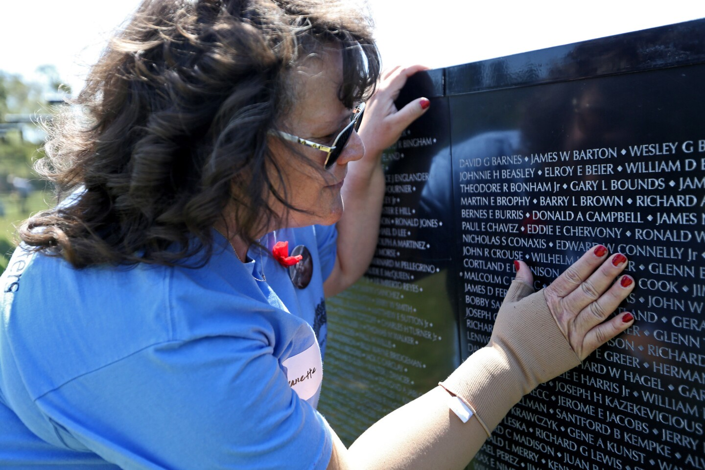Photo Gallery: Replica Vietnam War Memorial Wall comes to Costa Mesa