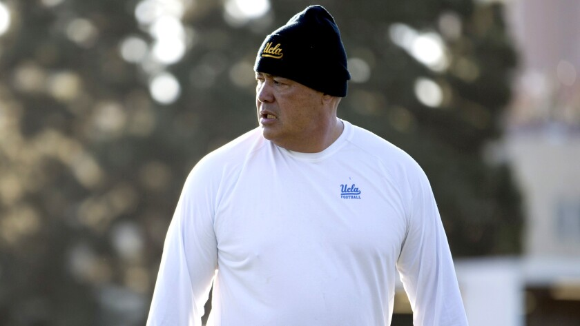 UCLA assistant coach Kennedy Polamalu worked for six years as an NFL assistant coach and embarked on two stints as a USC assistant before joining the Bruins' coaching staff.