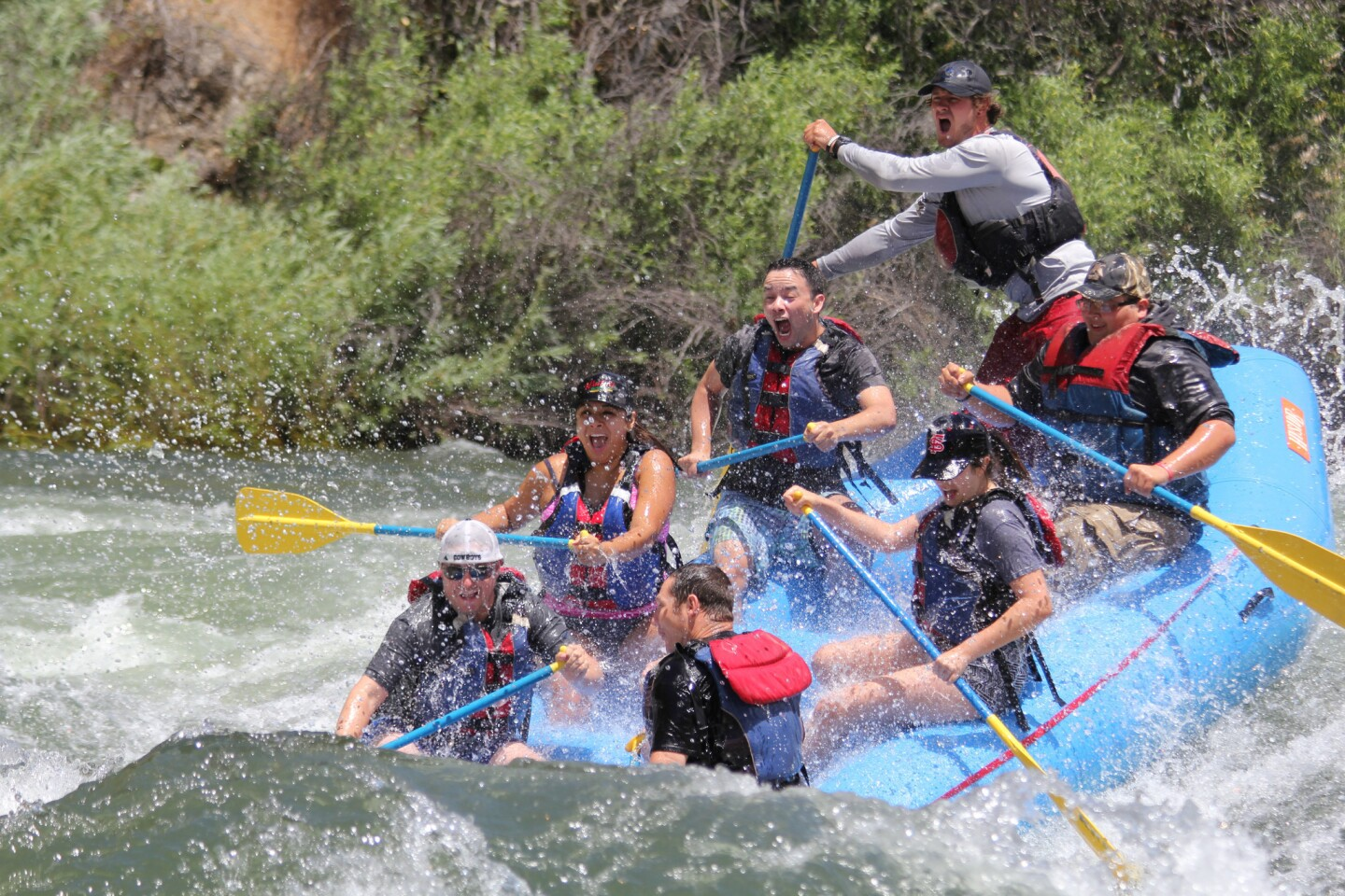Rafting on the upper Kings River in California, seen last June, is expected to go into late August, thanks to increased snowpack in Kings Canyon National Park.