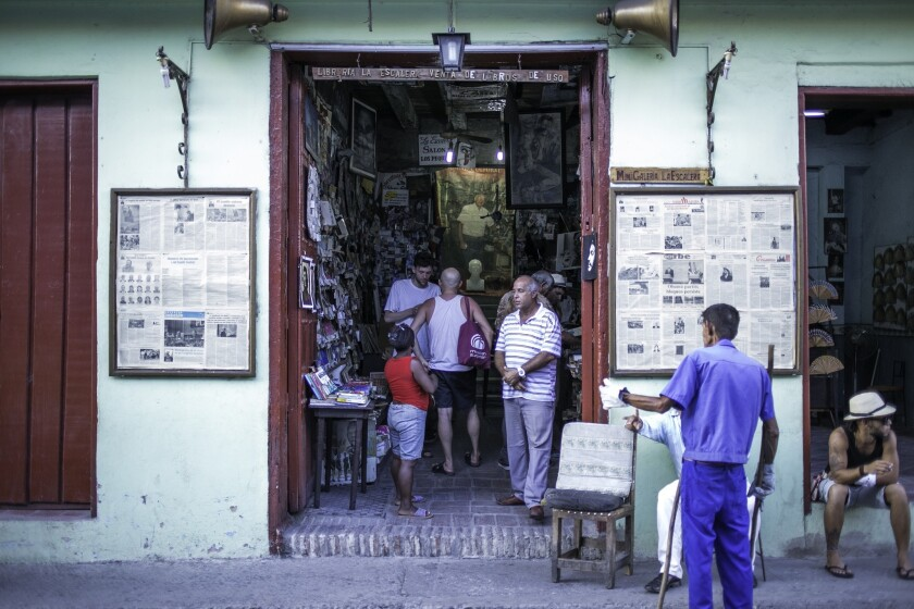 A used record and book store in Santiago de Cuba.