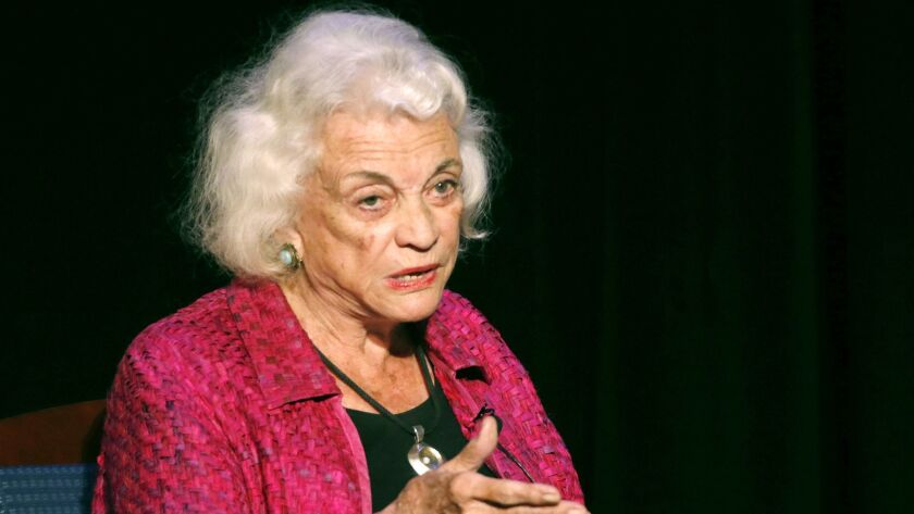 Retired U.S. Supreme Court Justice Sandra Day O'Connor in 2014.