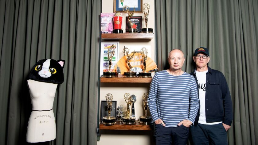 Fenton Bailey, left, and Randy Barbato, founders of World of Wonder Productions, at their headquarters in Hollywood.