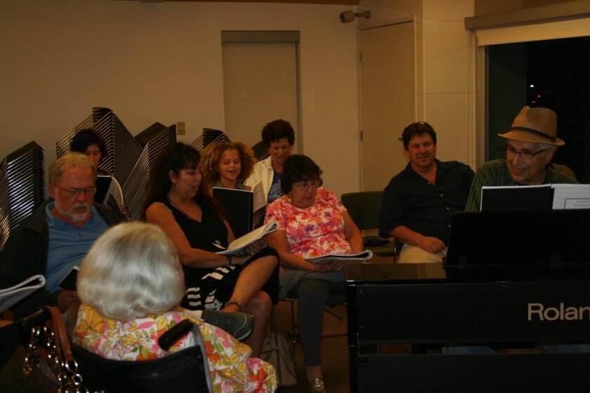 """Dr. Ed Siegel, who established the weekly Solana Beach Community Singalong, co-wrote """"Solana Beach, Our City Proud"""" with lyricist Lynn Salsberg."""