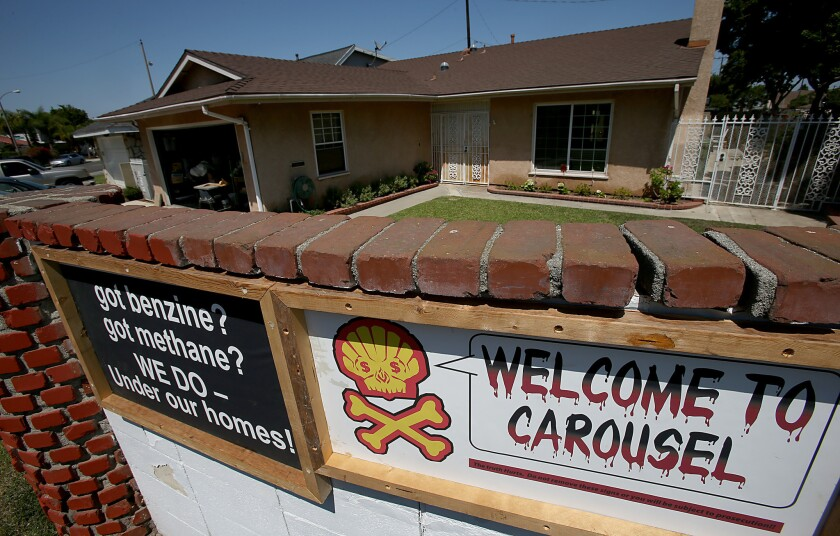 Carson city leaders, who voted Tuesday to place a temporary moratorium on new oil drilling, are still dealing with the cleanup of soil in a residential neighborhood built on the site of an old oil field.
