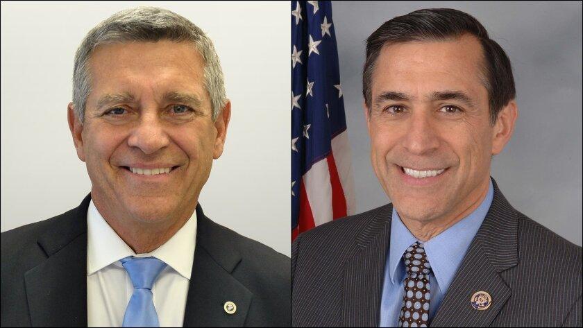 Democrat Doug Applegate and Rep. Darrell Issa, R-Vista.