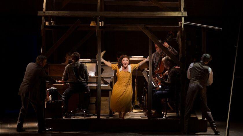 LOS ANGELES, CA - OCTOBER 11, 2017: Carmen Cusack performs in Steve Martin's musical Bright Star at