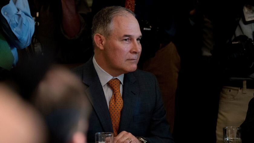 Environmental Protection Agency Administrator Scott Pruitt attends a Cabinet meeting with President