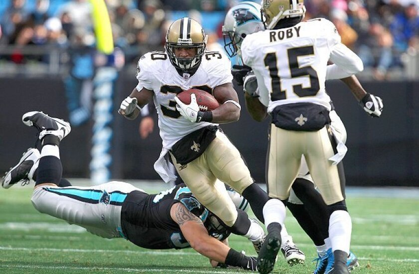"""New Orleans Saints running back Lynell Hamilton (on injured reserve in 2010) said his SDSU teammates in 2007 """"knew we were good, especially offensively, but weren't winning any games."""""""