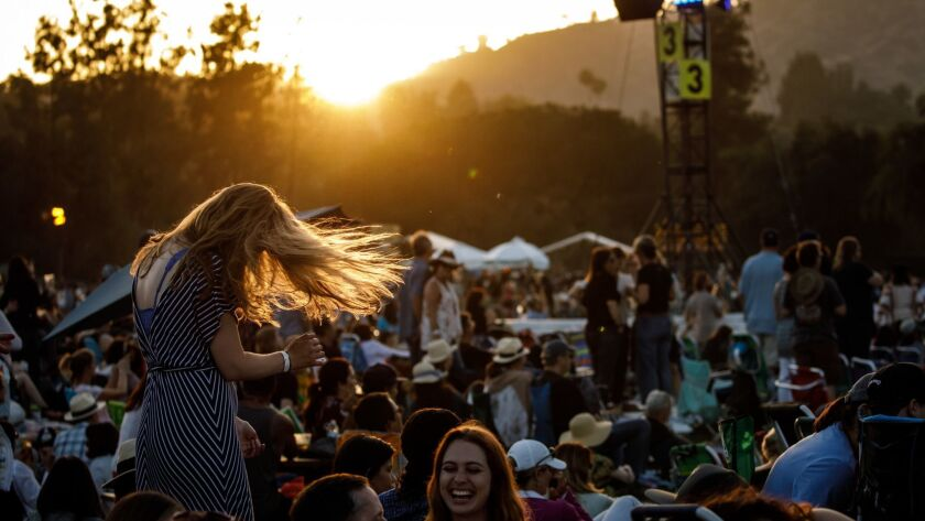 PASADENA, CALIF. -- SATURDAY, JUNE 23, 2018: The crowd enjoys the cool evening filled with music at