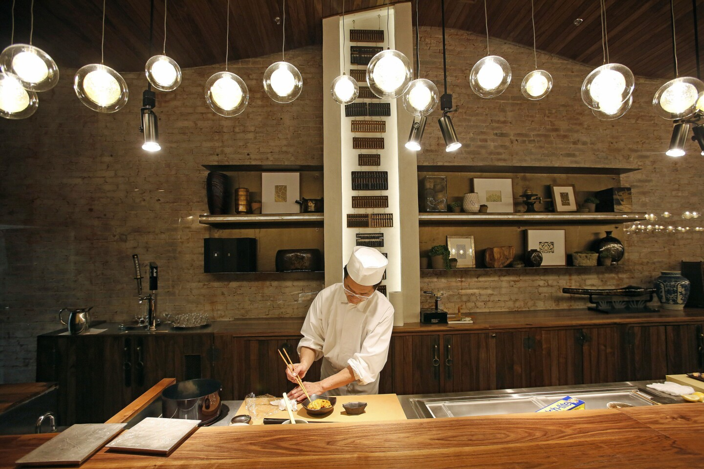 Sushi chef Hiroyuki Naruke moved from Tokyo to Los Angeles at the request of L.A. lawyers.