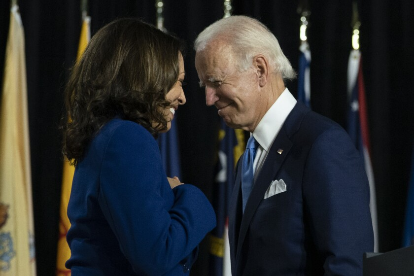 Kamala Harris and Joe Biden