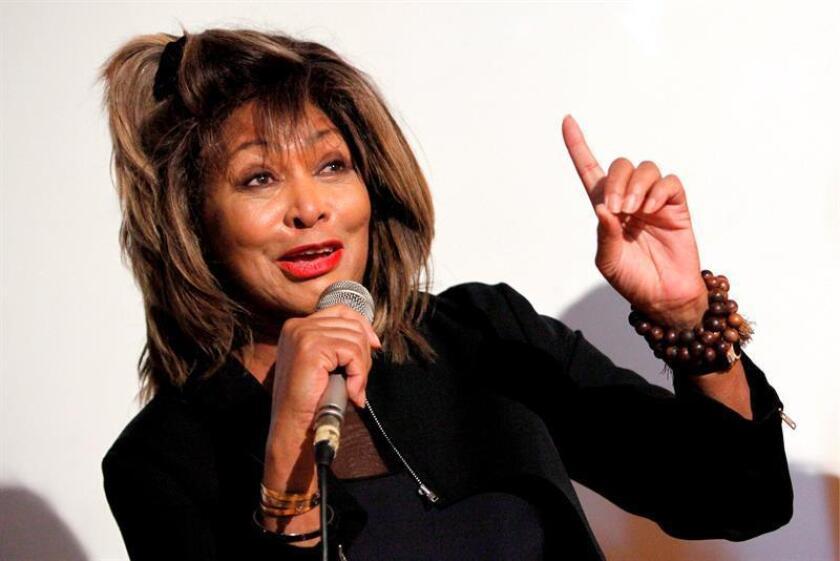 La cantante estadounidense Tina Turner durante una conferencia de prensa. EFE/Archivo