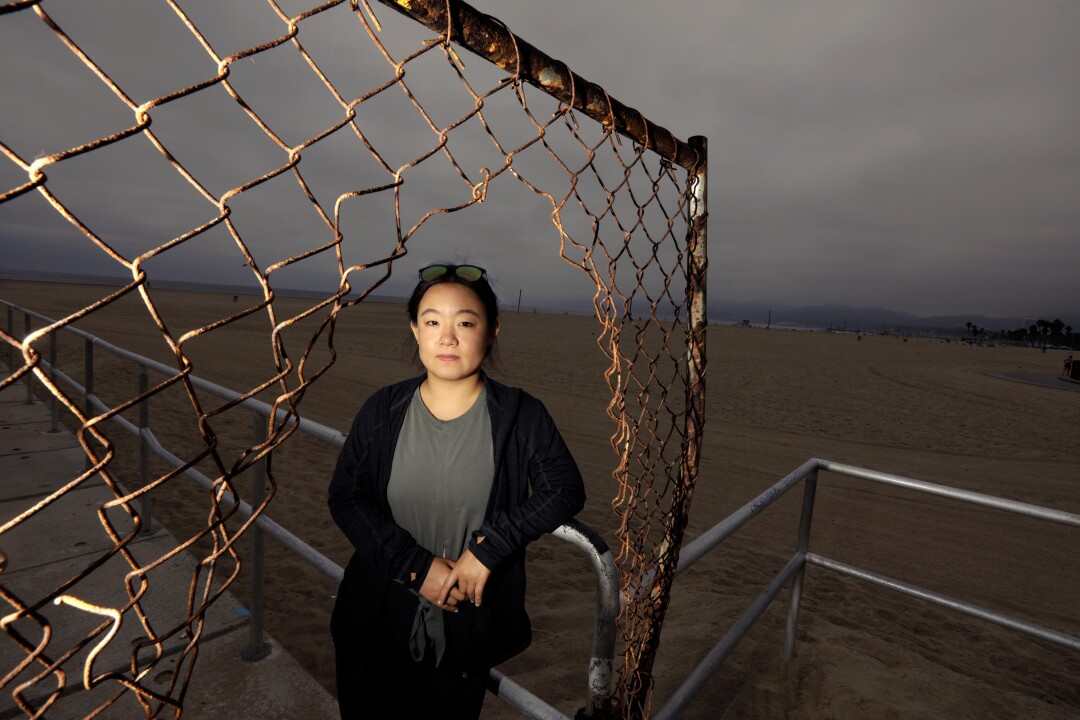 Paige Zhang, 29, a graduate student in marine biology at UCLA, is photographed in Venice.