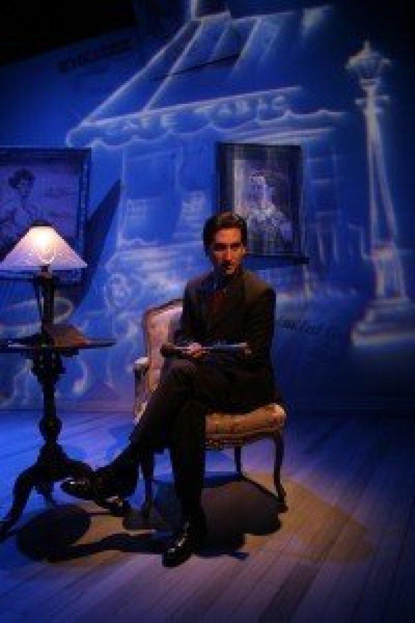 "Hershey Felder in his production of ""George Gershwin Alone."" Photo/Mark Garvin"