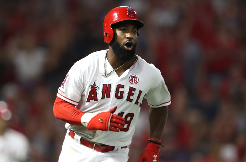 Angels right fielder Brian Goodwin knows he'll have plenty of competition for his position this season.