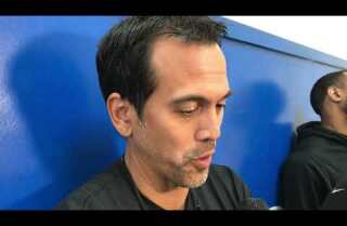 Erik Spoelstra on facing Stephen Curry