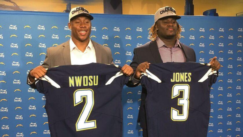 Uchenna Nwosu, Justin Jones