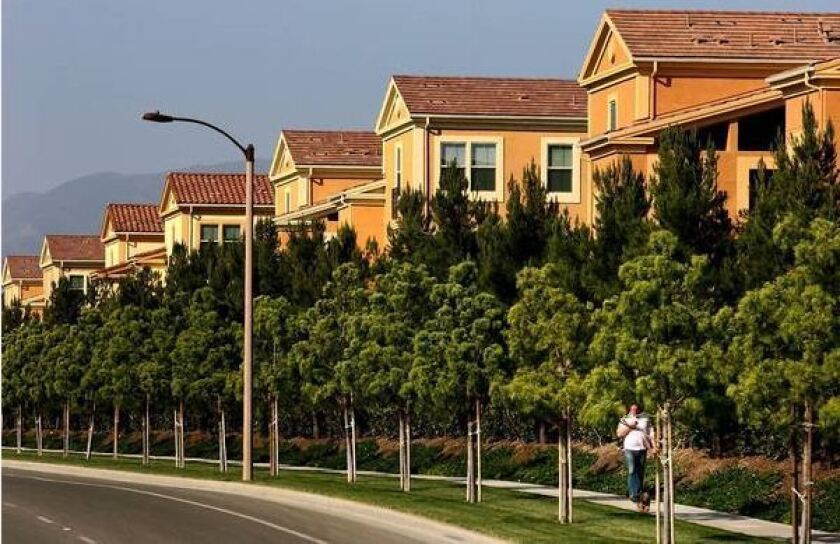 More than 1,400 new homes were sold last year in Irvine Co. developments, up from 774 sold the year before, the company said.
