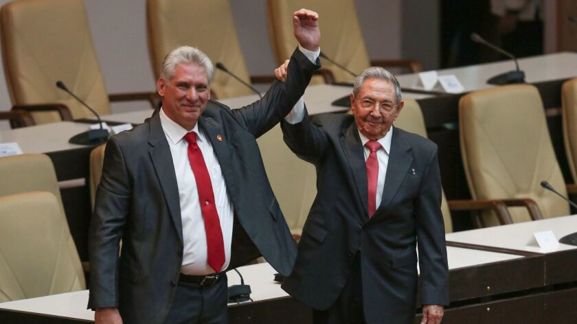 Diaz-Canel appointed new President of Cuba, Havana - 19 Apr 2018