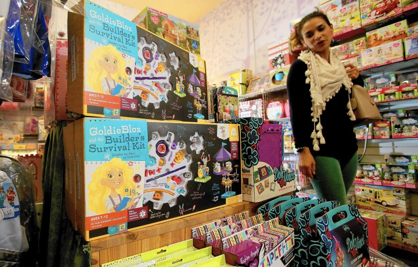 Toy makers explore construction sets for girls