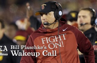 Bill Plaschke's Wakeup Call: Clay Helton stating his case for USC job