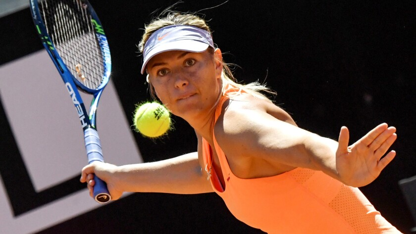 Maria Sharapova was known for her ground shots in a Fall of Fame-quality career.