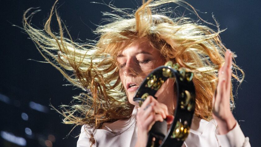 INDIO, CALIF. -- SUNDAY, APRIL 12, 2015: Florence + The Machine performs during Day 3 of the Coachel