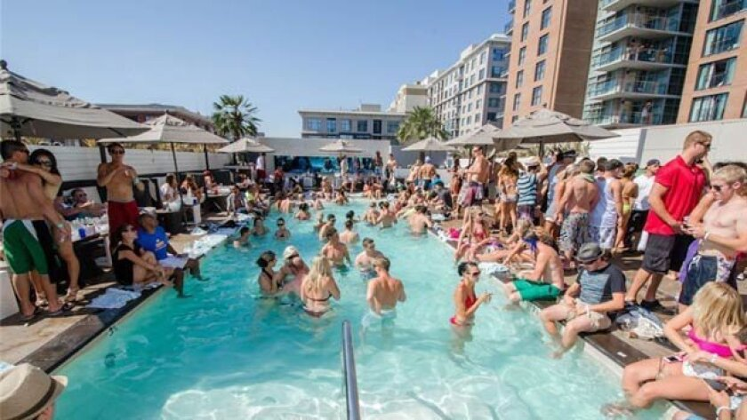 Intervention pool party scene at Hard Rock Hotel -- DiscoverSD
