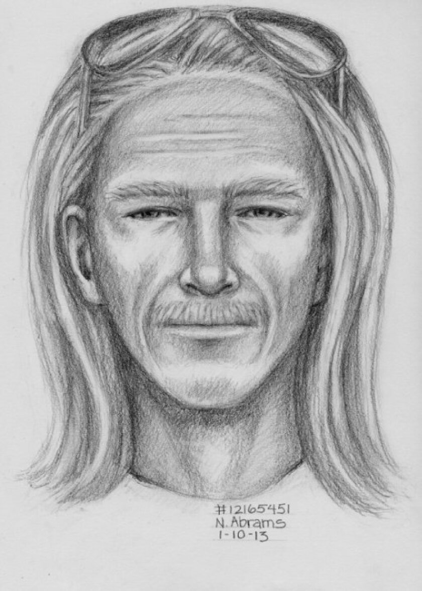 Artist rendering of the remaining outstanding suspect in a home invasion robbery in Rancho Santa Fe on Dec. 20.