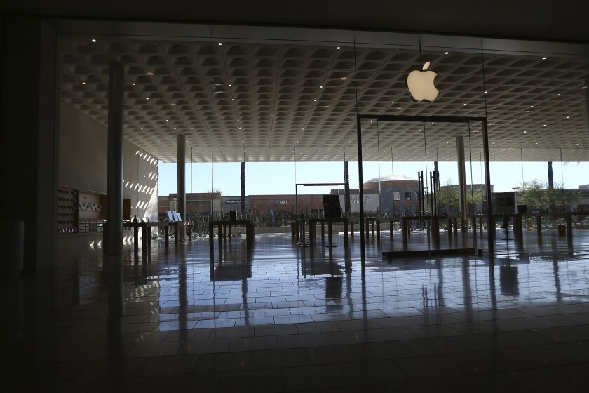 A closed Apple Store