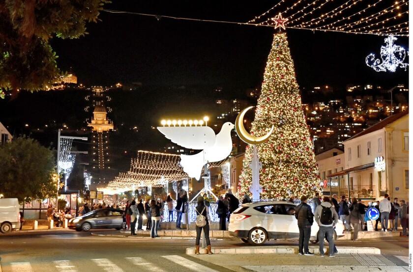 El ambiente festivo se vio enturbiado por la tensión de las últimas semanas después del reconocimiento del Presidente estadounidense, Donald Trump, de Jerusalén como capital israelí.