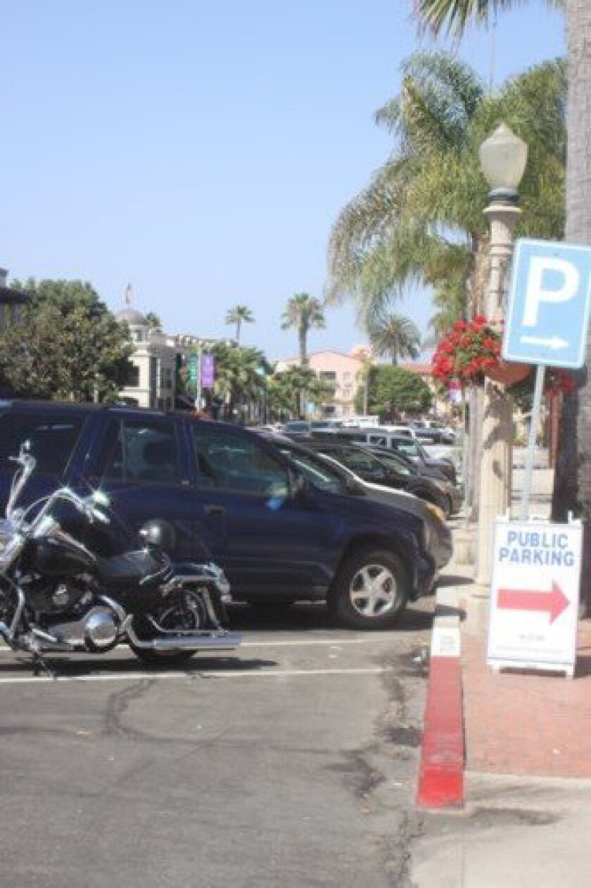 Finding free, public parking in la Jolla Village can be difficult during peak times in the afternoon. Ashley Mackin
